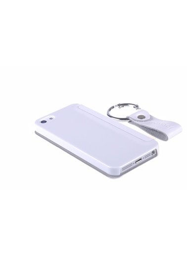 Joyroom iPhone 5/5S Flipcover Beyaz-Qapak